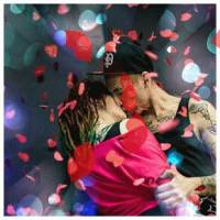 Скачать gif картинку: Сердечки поцелуи